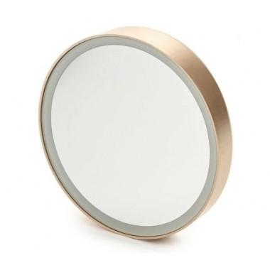 Зеркало косметологическое Gezatone LM100 10x с подсветкой, золотое
