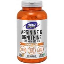 Биологически активная добавка Now Foods Arginine Ornithine / 250 капс