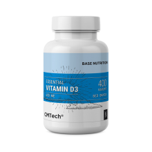 Биологически активная добавка витамин D3 с дозировкой 600 UI, 400 капс.