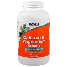 Биологически активная добавка Now Foods Calcium & Magnesium + D / 240 капс