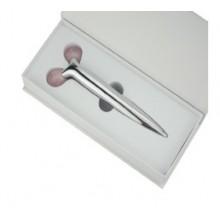 Массажер ролик, 1 роллер, в подарочной упаковке (роз.кварц)